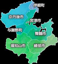 京都府北部地図