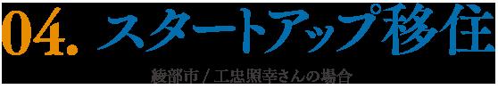 04.スタートアップ移住 綾部市/工忠照幸さんの場合